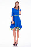 Adatti il catalogo dei vestiti della donna di affari del modello del fascino di stile Fotografie Stock