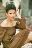 Adatti il ritratto di una ragazza etnica Fotografie Stock
