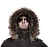 Adatti l'uomo in rivestimento di inverno Fotografia Stock Libera da Diritti