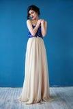 Adatti la foto di bella signora in vestito da sera elegante Fotografia Stock Libera da Diritti
