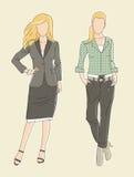 Adatti le donne di affari dell'illustrazione Immagini Stock Libere da Diritti