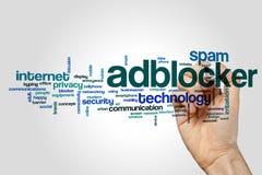Adblocker-Wortwolke Lizenzfreie Stockfotos