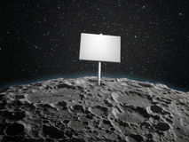 Adboard on a planetoid Stock Image