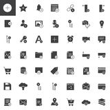 Add applications with plus sign vector icons set. Modern solid symbol collection, filled style pictogram pack. Signs, logo illustration. Set includes icons as Royalty Free Stock Image