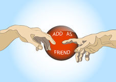 Add as friend. Social site button.Creative vector Royalty Free Stock Photography