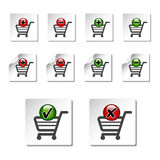 Add delete shopping cart item Stock Images