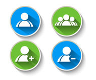 Add Delete & User Group Web Icon Royalty Free Stock Photography