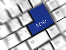 Add - enter sign. Replaced enter sign at keyboard Stock Images