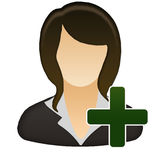 Add female user icon Stock Image