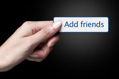 Add friend Stock Photo