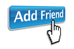 Add friend icon Royalty Free Stock Photos