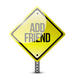 Add friend sign illustration design Stock Photography