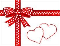 add hearts message present your Στοκ εικόνα με δικαίωμα ελεύθερης χρήσης