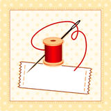 add label own sewing text your 向量例证