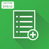 Add list document icon. Business concept document note pictogram Royalty Free Stock Photo