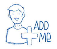 Add me design Stock Images