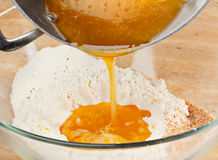 Melted honey and butter royalty free stock image