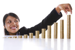 Add one more to my investment profit Stock Photo