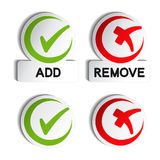 Add remove circular item Royalty Free Stock Photography