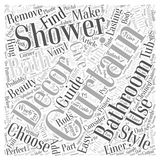 Add Shower Curtains to Your Bath Decor for Lasting Beauty word cloud concept  background. Text Stock Image