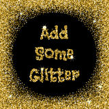 Add some glitter Royalty Free Stock Photography