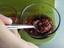Add a spicy taste. Dried chillies add a spicy taste Royalty Free Stock Photography