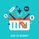 Add to basket Stock Photo