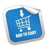 Add to cart. Label isolated on white background Royalty Free Stock Images