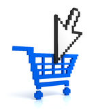 Add to cart button Royalty Free Stock Image