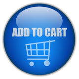 Add to cart button Stock Image