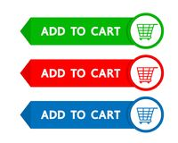 Add to cart button business design. Royalty Free Stock Photo