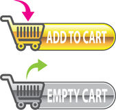 Add to Cart Button Empty Cart Button with shopping cart Vector. Eps file Stock Images