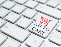 Add to cart button Royalty Free Stock Photography
