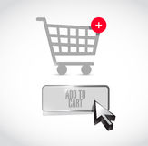 Add to cart button illustration design Royalty Free Stock Image