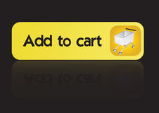 Add to cart button -vector Royalty Free Stock Photos