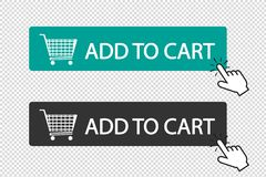 Add To Cart Button - Vector Illustration - Isolated On Transparent Background stock illustration