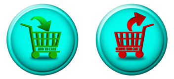 Add to cart buttons Royalty Free Stock Photos