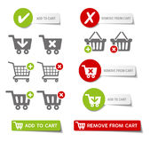 Add to Cart Buttons. Collection of sales buttons and 'add to cart' buttons Stock Images