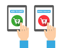 Add to Cart Buttons. For web, print, or for mobile apps. Flat design style Stock Photo