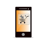 Add to cart concept on mobile phone Royalty Free Stock Image