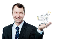 Add to cart, e-commerce concept Royalty Free Stock Images