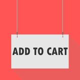 Add to cart Hanging Sign Stock Photo