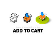 Add to cart icon in different style Stock Photography