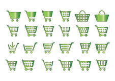 Add to cart icons green Stock Image