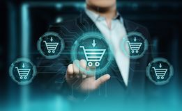 Add To Cart Internet Web Store Buy Online E-Commerce concept.  royalty free stock photos