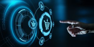 Add To Cart Internet Web Store Buy Online E-Commerce concept stock photo