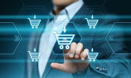 Add To Cart Internet Web Store Buy Online E-Commerce concept.  Stock Images