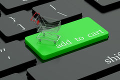 Add to cart keyboard button. Add to cart green keyboard button Stock Photography