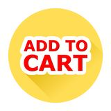 Add to cart with shadow Royalty Free Stock Photos