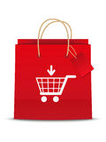 Cart shoping icon Stock Image